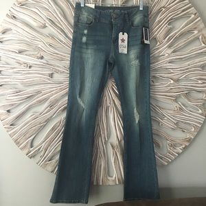 Vanilla Star Distressed Boot cit Jeans Sz 11